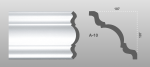 Beltéri polisztirol díszléc A-10 képe