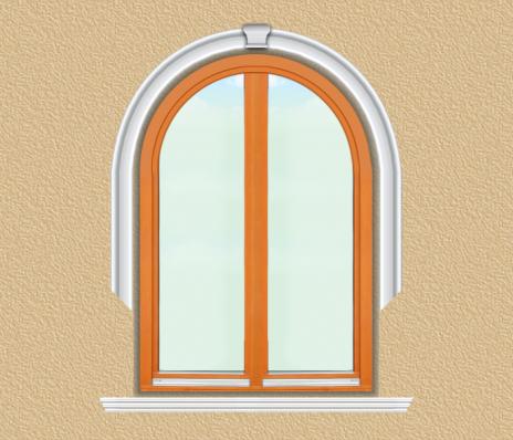 BD02 Boltíves ablak díszítése polisztirol díszléccel