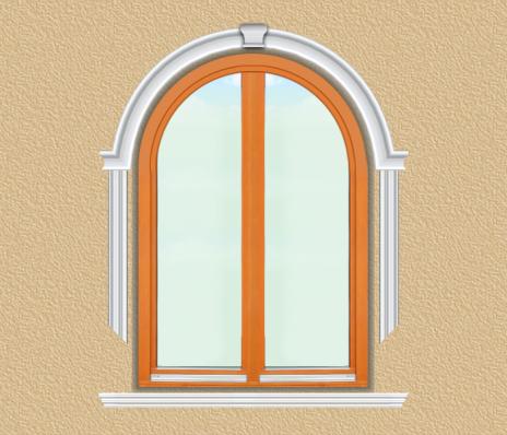 BD05 Boltíves ablak díszítése polisztirol díszléccel