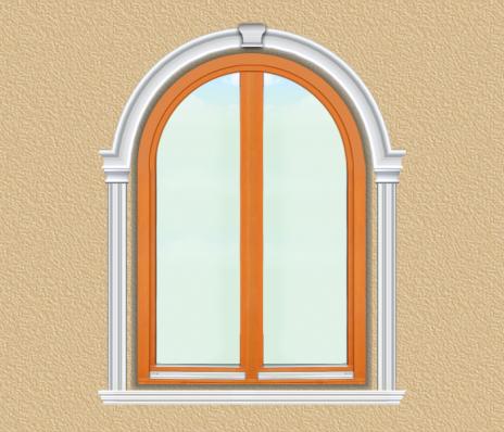 BD06 Boltíves ablak díszítése polisztirol díszléccel