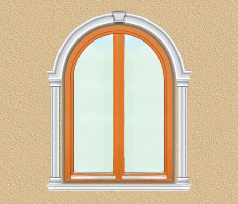 BD08 Boltíves ablak díszítése polisztirol díszléccel