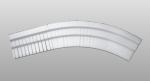 C-40 kültéri polisztirol belső ívre hajlítható íves léc képe