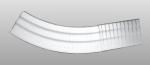 C-40 kültéri polisztirol külső ívre hajlítható íves léc