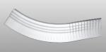 C-70 kültéri polisztirol külső ívre hajlítható íves léc