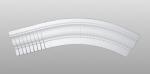 C-80 kültéri polisztirol belső ívre hajlítható íves léc képe