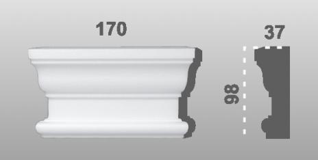 C-80 kültéri polisztirol díszítő konzol képe