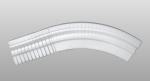 C-10 kültéri polisztirol belső ívre hajlítható íves léc képe