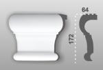 C-100 kültéri polisztirol fejdísz ( középdísz ) képe