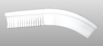 C-100 kültéri polisztirol belső ívre hajlítható íves léc képe