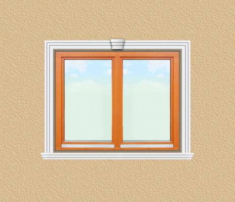 ED03 ablak díszítése egyféle polisztirol díszléccel