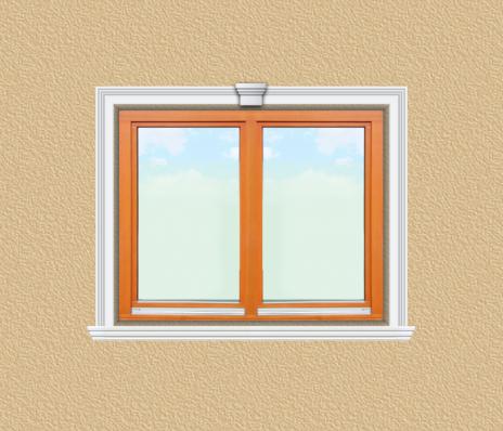 ED05 ablak díszítése egyféle polisztirol díszléccel