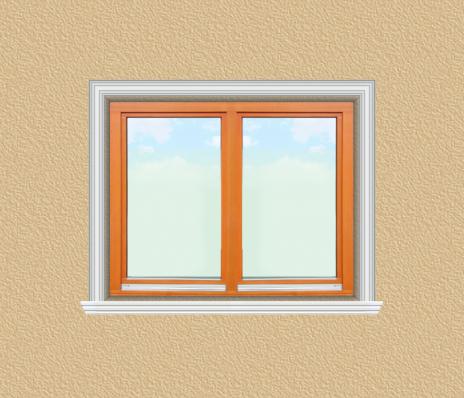 ED21 ablak díszítése egyféle polisztirol díszléccel