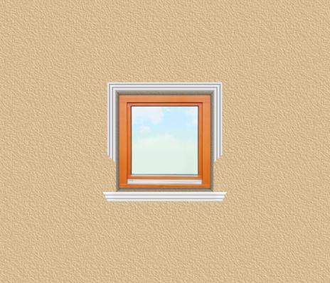 ED30 ablak díszítése egyféle polisztirol díszléccel