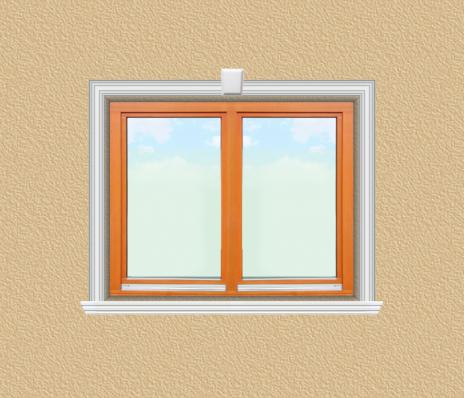 ED23 ablak díszítése egyféle polisztirol díszléccel